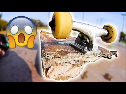 WHAT HAPPENS WHEN YOU MAKE A SKATEBOARD OUT OF CARDBOARD