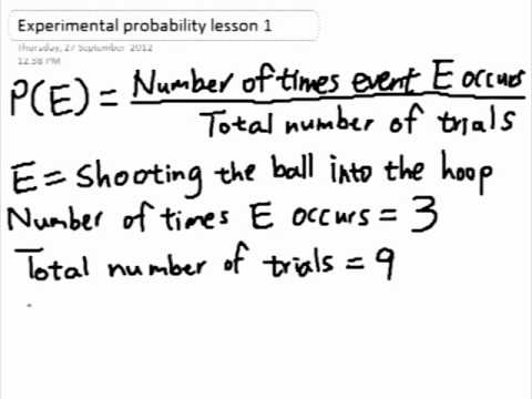 Experimental Probability Example Experimental Probability Using