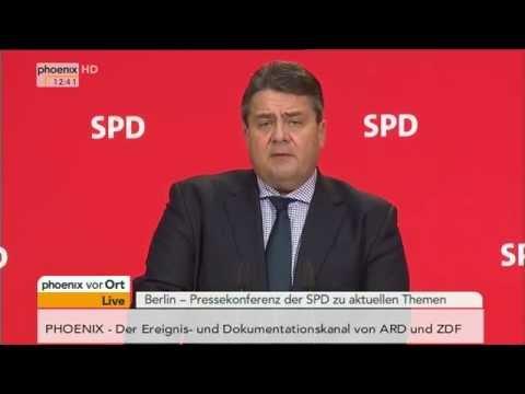 SPD: Pressekonferenz mit Sigmar Gabriel zu aktuellen Themen am 8.12.2014