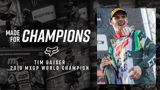 Bravo, Tim Gajser - 2019 MXGP Word Champion