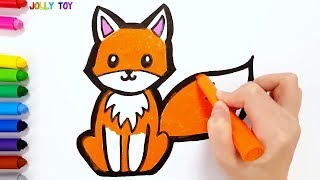 Glitter Colouring, Painting, Learn Colours Learn numbers for Kids, Toddlers | #JollyToyArt