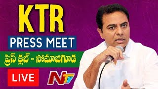 KTR Press Meet From Somajiguda Press Club LIVE | NTV LIVE