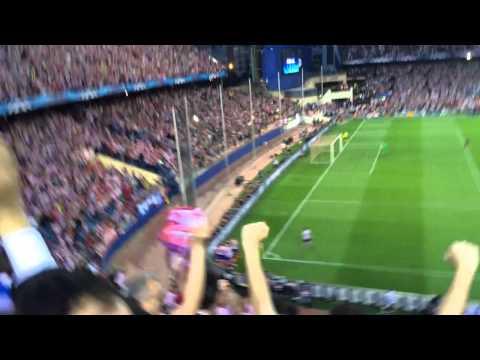 Atlético de Madrid - FC Barcelona Gol de Koke 9/04/14