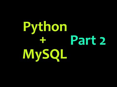 MySQL Database with Python Tutorial Part 2 - creating tables and inserting data