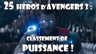 Avengers 3 Infinity War : classement des 25 héros !