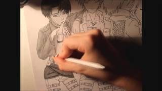 drawing Attack on Titan