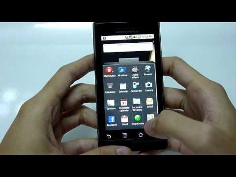 Motorola Milestone Official Android 2.1 UI