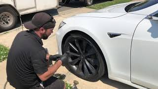 Tesla wheel repair