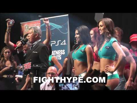 MANNY PACQUIAO VS TIMOTHY BRADLEY 2 WEIGHIN