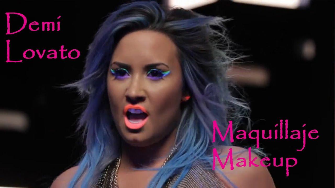 Demi Lovato Makeup Neon