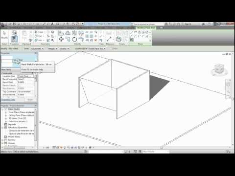 Como hacer muros inclinados en Revit: Tutorial Revit  - MODELARQ