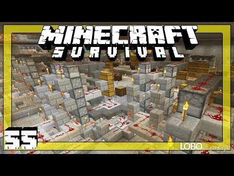 ⛏ Minecraft Survival 55 | MULTI - ITEM SORTING MEGA STORAGE SYSTEM (PT 3) and MOB HEADS ! | Luna SSP