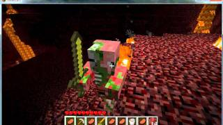 Minecraft, How to annoy a zombie pigman!