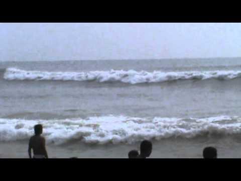 Waves Hit The Shore Of Puri Beach - Odisha.