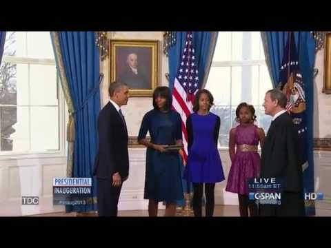 President Obama takes the official Oath of Office sworn in by Chief Justice John Roberts. Subscribe for more videos: http://bit.ly/WZnLnd Join the conversati...