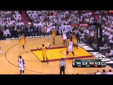NBA CIRCLE  Indiana Pacers Vs Miami Heat Game 2 Highlights 24 May 2013 Eastern Final