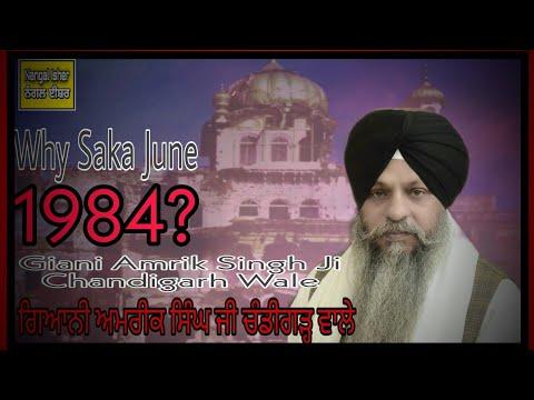 Why? Saka June 1984------giani Amrik Singh Ji (chd Wale) At Sri Darbar Sahib 07-06-2013.flv video