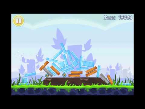 Angry Birds Lite | 3 Star Walkthrough | Level 4