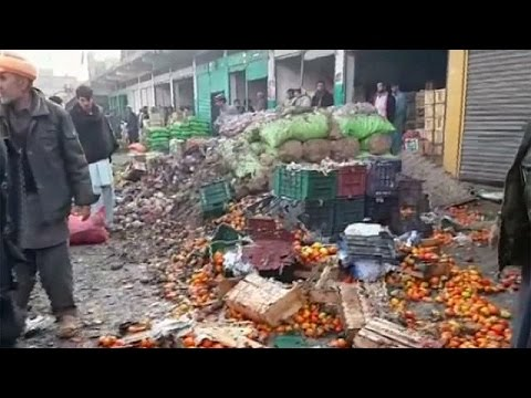 Deadly bomb blast hits market in northern Pakistan