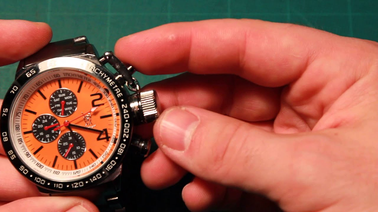 Dial Bracelet Watch Bracelet Watch Orange Dial