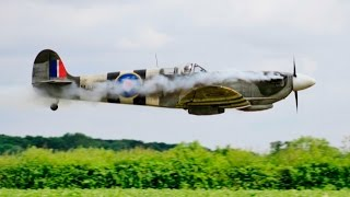 AMAZING 1/3 SCALE SPITFIRE - DLE 170cc ERIC REBOUL AT WILLIS WARBIRDS FIGHTER MEET - 2016