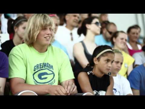 Tommy and Scott surprise Sam: 2009-10 National Boys Track & Field AOY award