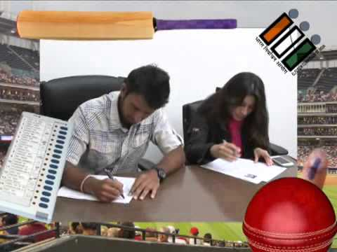 Cheteshwar Pujara registers to Vote (Gujarat)