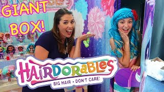 LARGEST TOY BOX EVER! Unboxing a Giant Real Life Hairdorables Doll
