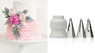 How to make a ruffle cake WITH NEW TIPS! - CAKE STYLE