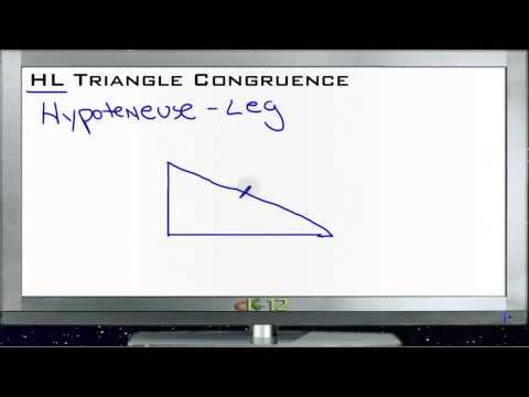 HL Triangle Congruence Principles - Basic
