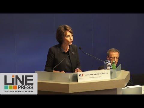 Conférence de presse de Marisol Touraine sur l'épidémie Ebola /  Paris - France 10 octobre 2014