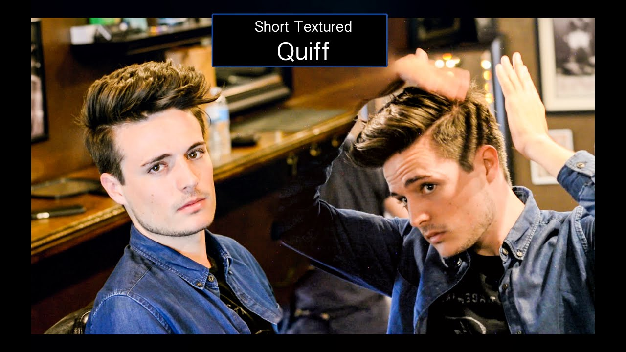 Mens Haircut & Hairstyle | Short Textured Quiff Hair Tutorial