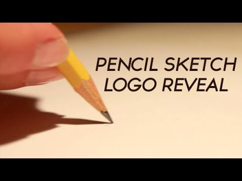 After Effects Pencil Drawing Pencil Sketch Logo Reveal