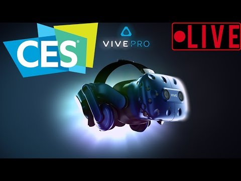 VR at CES2018 - Hands on w/ Vive Pro, Wireless VR, Pimax8k, and more!