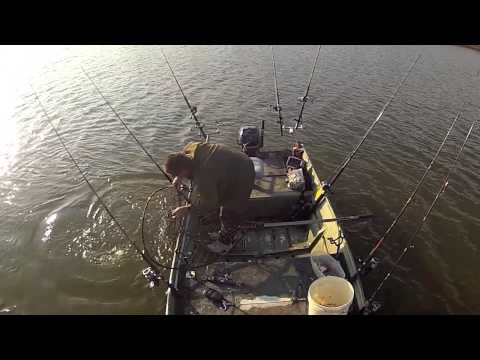 743 pounds of Blue Catfish in 4 hours - SOLO (James River. VA)