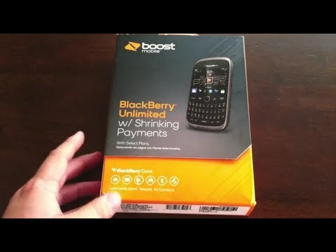 BlackBerry Curve 9310 from Boost Mobile -- Unboxing & Initial Impressions