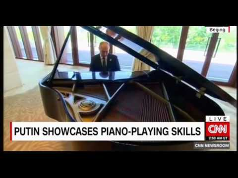 Putin in Bejing, Martial Arts, Horseback riding Piloting planes and now Piano Playing
