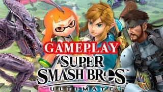 Super Smash Bros. Ultimate Gameplay + Impressions - Link, Ridley, Snake, Inkling!