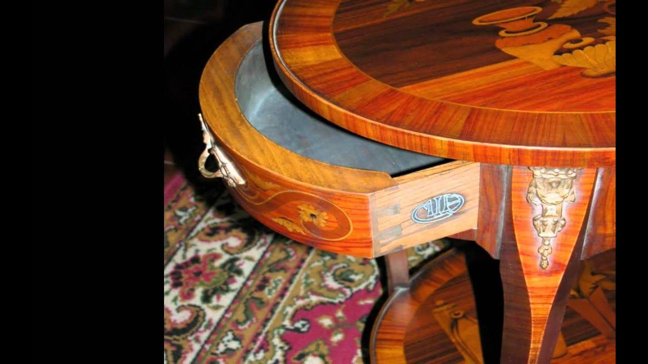 Gu ridons style louis xv et style louis xvi meubles d 39 art youtube - Meuble style louis xv ...