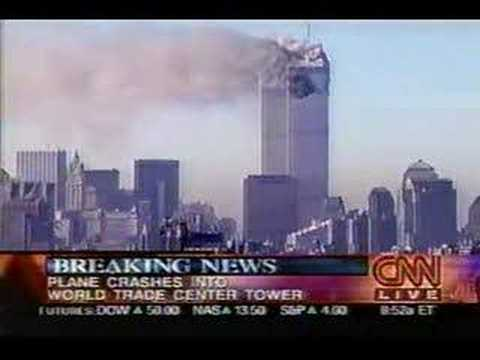9/11/01 - CNN News Coverage 1st 5 Minutes Video