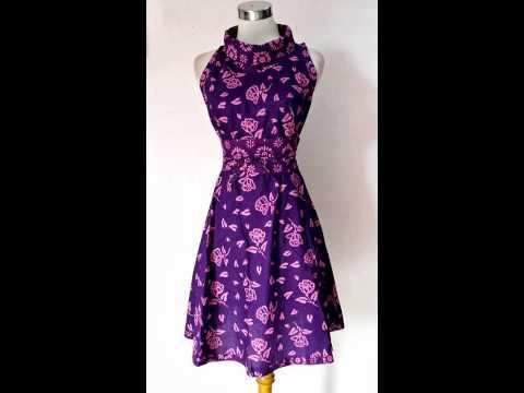 Baju Pesta Model Dress Batik