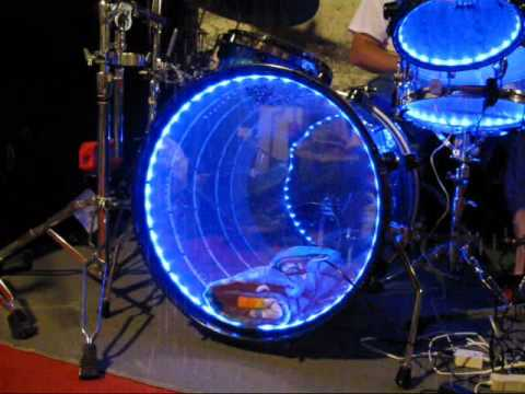 lighted drums led light up drum set drum lights acrylic drums part 2 sound activated lights. Black Bedroom Furniture Sets. Home Design Ideas