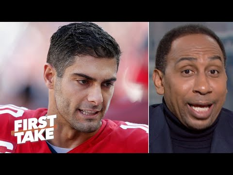 'I don't trust Jimmy Garoppolo' to win on the road in the playoffs - Stephen A. | First Take