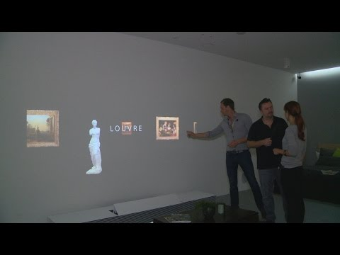 SONY 4K Ultrakurzdistanz Projektor im SONY Live Space UX Konzept - IFA 2014