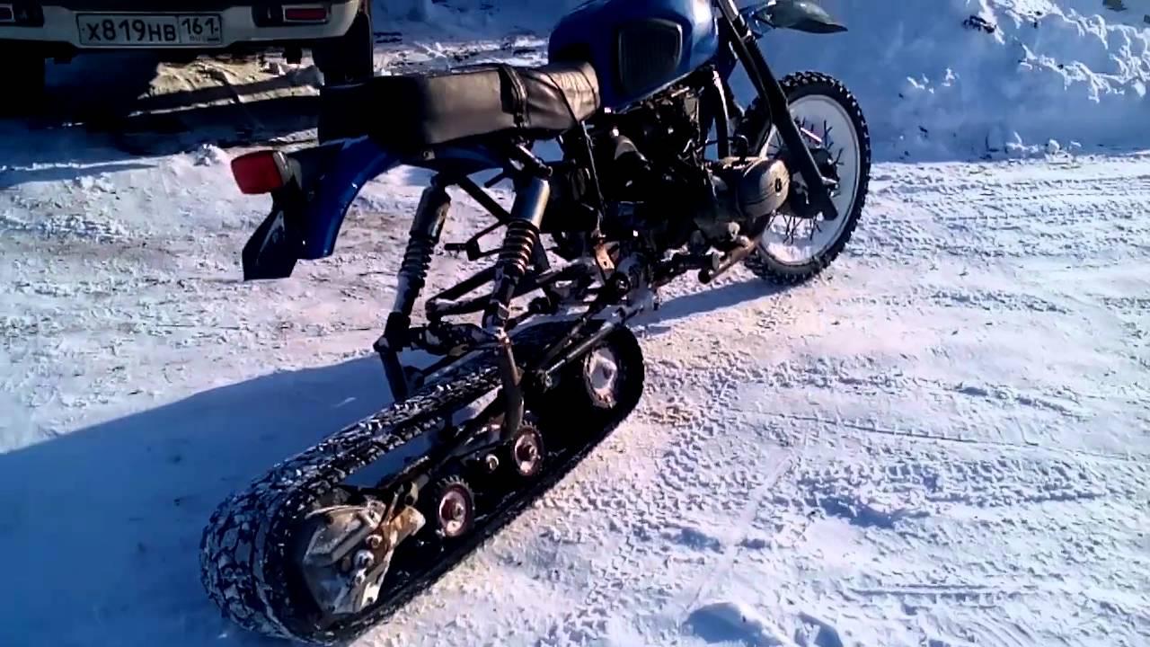 Зимний мотоцикл своими руками 12