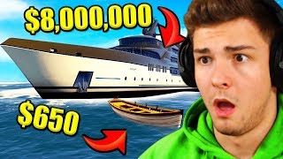 BILLIGSTES vs. TEUERSTES Boot in GTA 5!