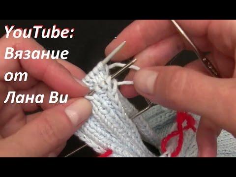 Вязание спицами как соединить два полотна с открытыми петлями 43