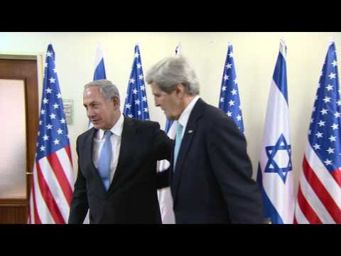 PM Netanyahu Meets US Sec of State John Kerry