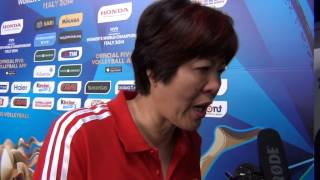 28-09-2014: Intervista a Lang Ping nel post Cina-Giappone 3-2