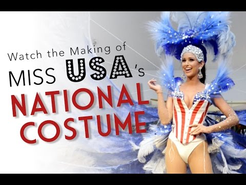 Watch the Making of Miss USA's National Costume